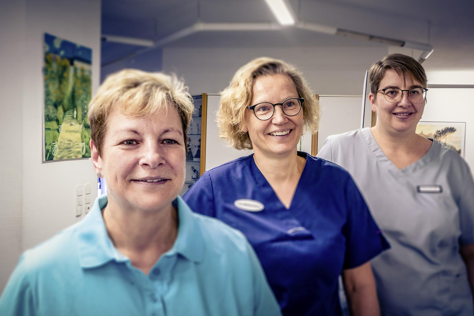 Die Fachangestellten Anja Hofmann, Diana Wollmershäuser und Sandra Behringer
